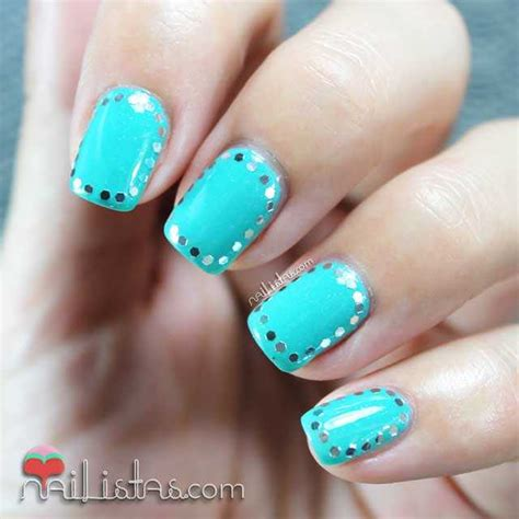 imagenes de uñas decoradas color turquesa u 241 as decoradas con glequins 191 qu 233 son los glequins
