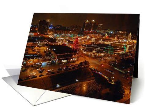 Kansas City Plaza Gift Cards - country club plaza kansas city holiday lights note card 720747