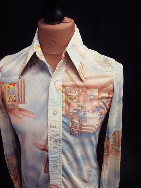 vintage pattern button down shirt 17 best images about 70s shirts on pinterest nature