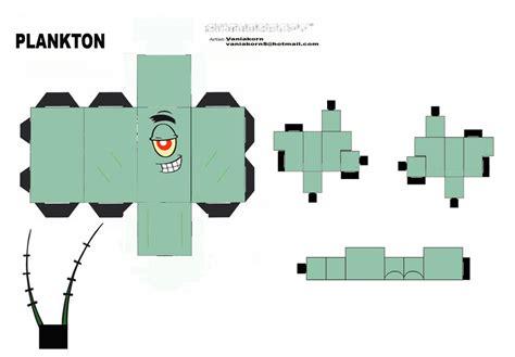 Spongebob Papercraft - cubeecraft plankton spongebob by vaniakorn5 on deviantart