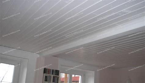 Pose Lambri Pvc Plafond by Lambris Pvc Plafond Pas Cher