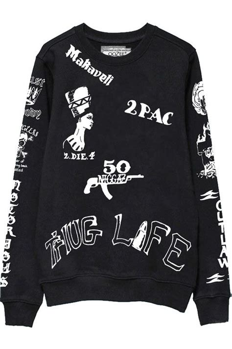 tattoo design hoodies 2pac sweatshirts front fashion s t