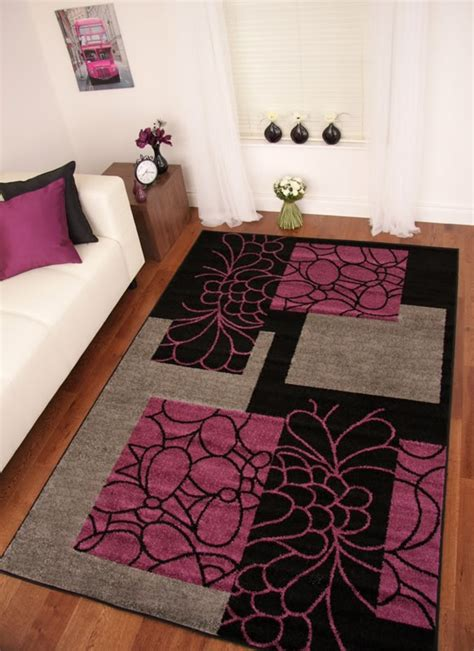 Cheap Pink Area Rugs Details About Toledo Black Purple Aubergine Grey Modern Mat Small Large Soft Cheap Rugs