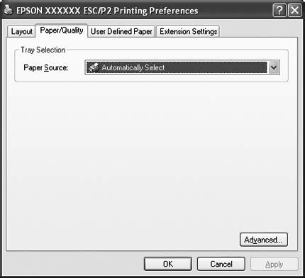 Knop Lq 2190 de printerdriver gebruiken