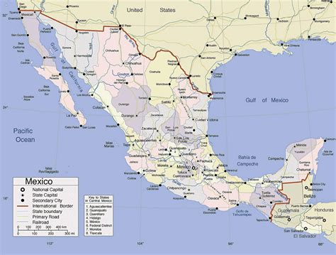 mexico detailed map detailed administrative map of mexico mexico detailed