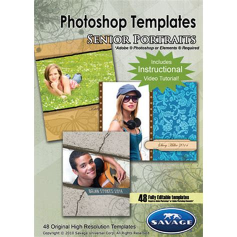 senior templates for photoshop free savage senior portrait photoshop templates pst104 b h photo