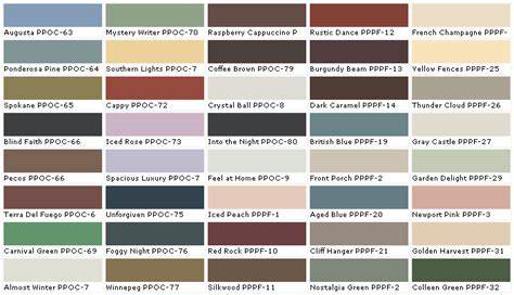 exterior paint swatches home depot paint colors chart home painting ideas