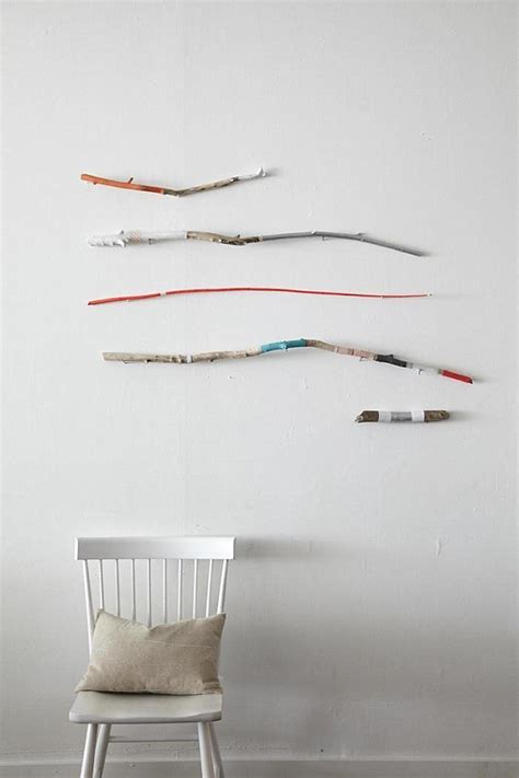 stick wall minimalist art ideas diy projects and more