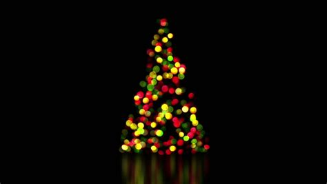 Multicolored Christmas Lights Seamless Loop Background Tree Out Of Lights