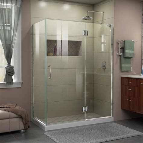 48 frameless shower door shop dreamline unidoor x 48 375 in to 48 375 in frameless