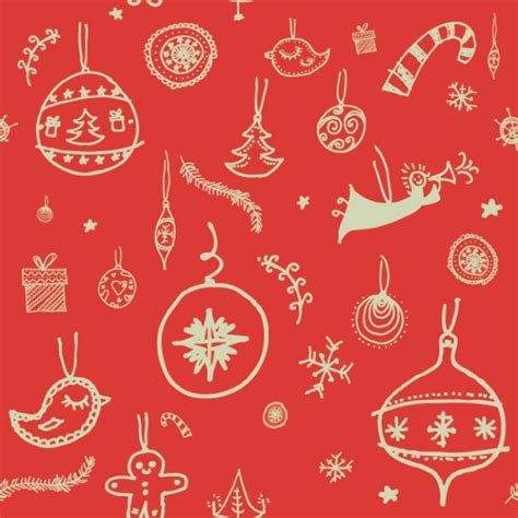 doodle pattern vector free christmas doodles pattern vector free download
