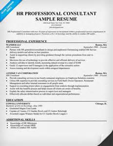 Hr Professional Resume Sample by Hr Professional Consultant Resume Resumecompanion Com