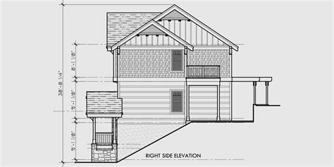 house plans for sloping lots in the rear craftsman three level house plan for sloping lots