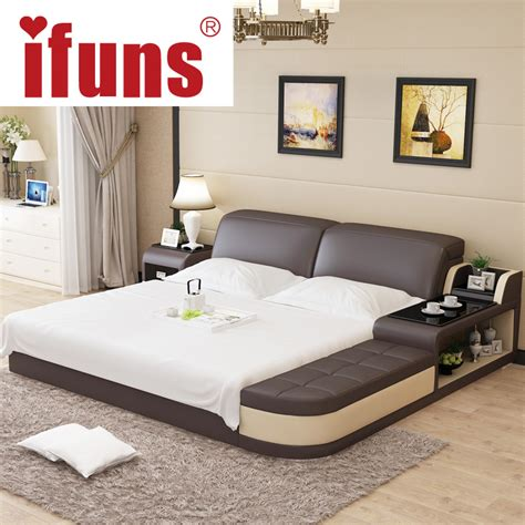 Luxurious Bed Frames Name Ifuns Luxury Bedroom Furniture Modern Design King Size Genuine Leather Bed With