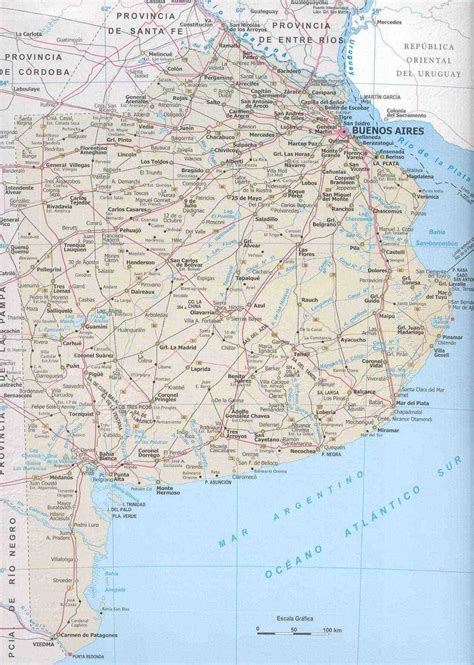 mapa america buenos aires mapa provincia de buenos aires argentina tama 241 o completo