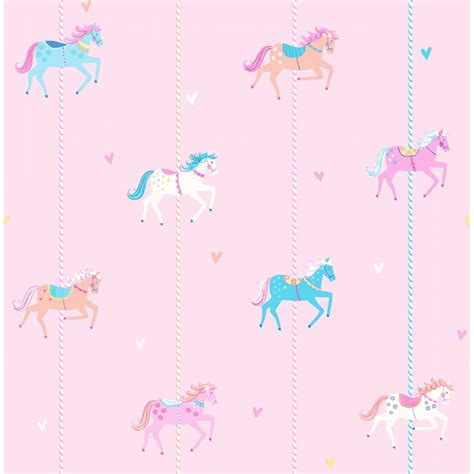childrens wallpaper decorline carousel childrens wallpaper pink blue white
