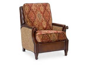 Manor hill fabric leather recliner by bradington young