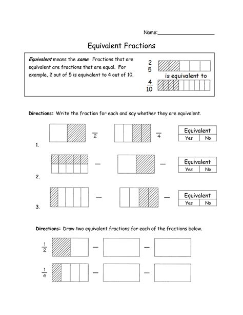Equivalent Fractions Worksheets 4th Grade by 13 Best Images Of Equivalent Fractions Number Line