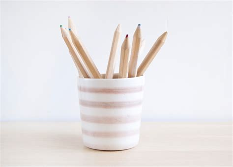 ceramic pencil holdercolored pencil holder desk accessories