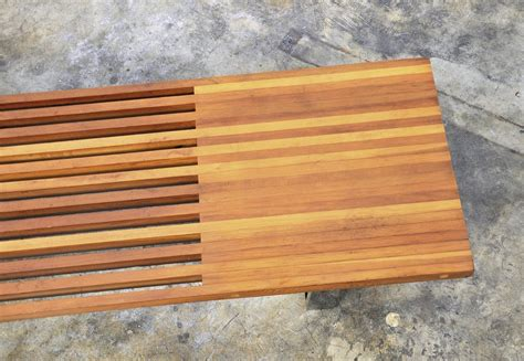 bench slats select modern george nelson style slat bench or coffee table