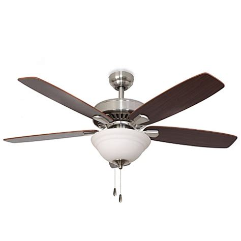 bed bath and beyond ceiling fans 52 inch barclay bowl light brushed nickel ceiling fan
