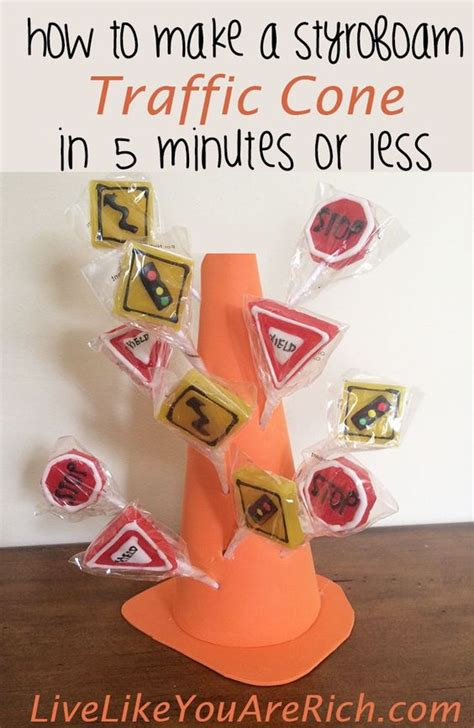 how to make styrofoam centerpieces how to make a styrofoam traffic cone table