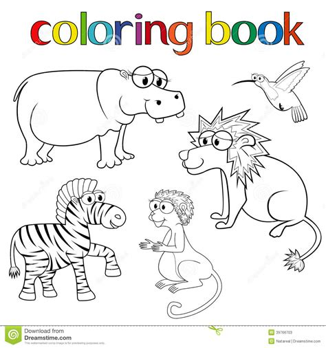 coloring book kits kit of animals for coloring book stock vector image