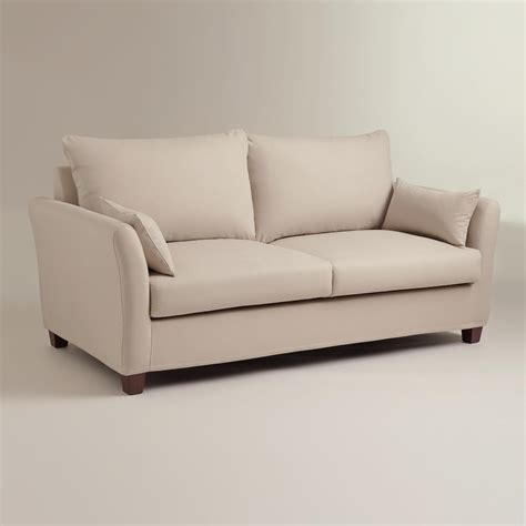 luxe sofa world market stone luxe sofa slipcover world market