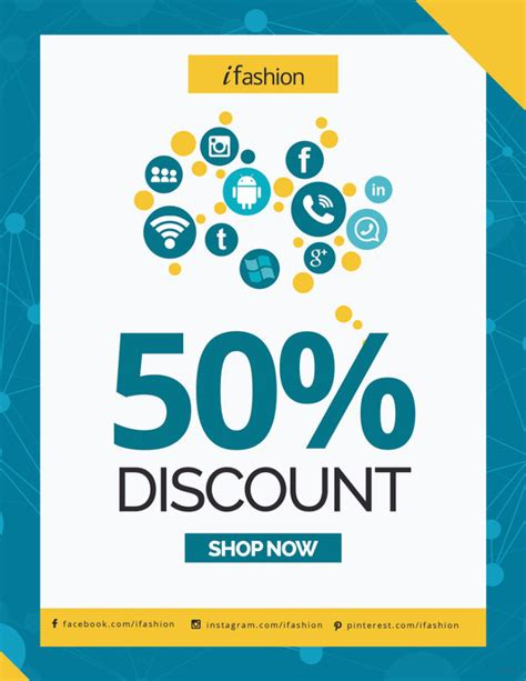discount flyer template 20 social media flyers free psd ai eps format