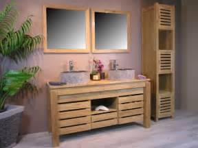 meuble salle de bain zen bois