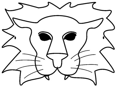 pin lion mask coloring page on pinterest
