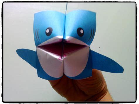 Un Requin En Origami Mes Humeurs Cr 233 Atives By Flo