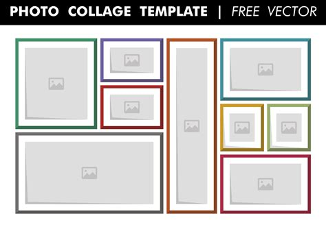 picture template photo collage template free vector free vector
