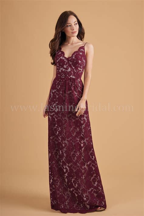 V Neck Spaghetti Lace Dress l204054 v neck spaghetti lace bridesmaid dress