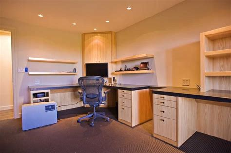 bay area home office design with high end custom cabinets