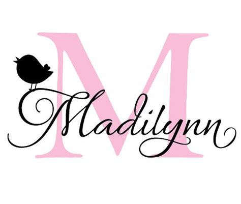 wall sticker colours and personalised decal fonts monogram personalized customize name girl boy gift art