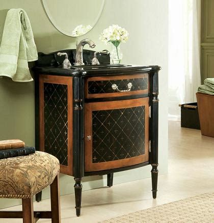 selection  ornate antique bathroom vanities  small