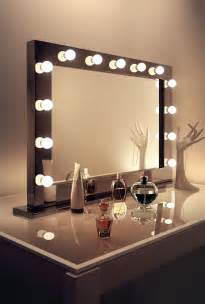 Large Makeup Mirror With Lights Uk High Gloss Black Makeup Dressing Room Mirror
