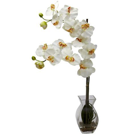 Artificial Flower Arrangements In Vases by Phalaenopsis Orchid Silk Flower Arrangement With