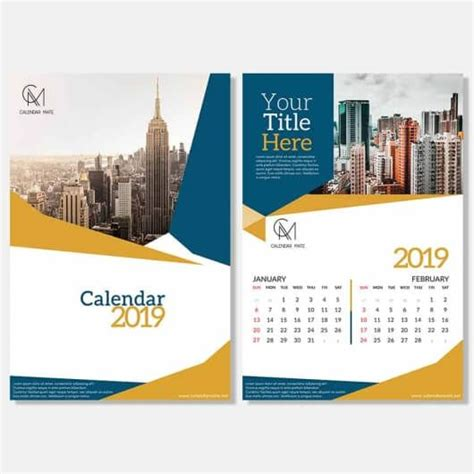 desk calendar design template  psd kalender brosur desain