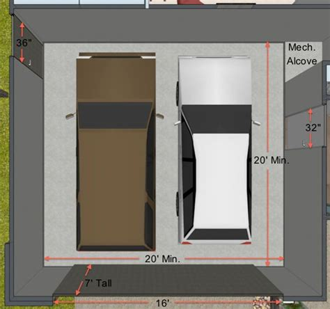 how big is a 2 car garage key measurements for the perfect garage