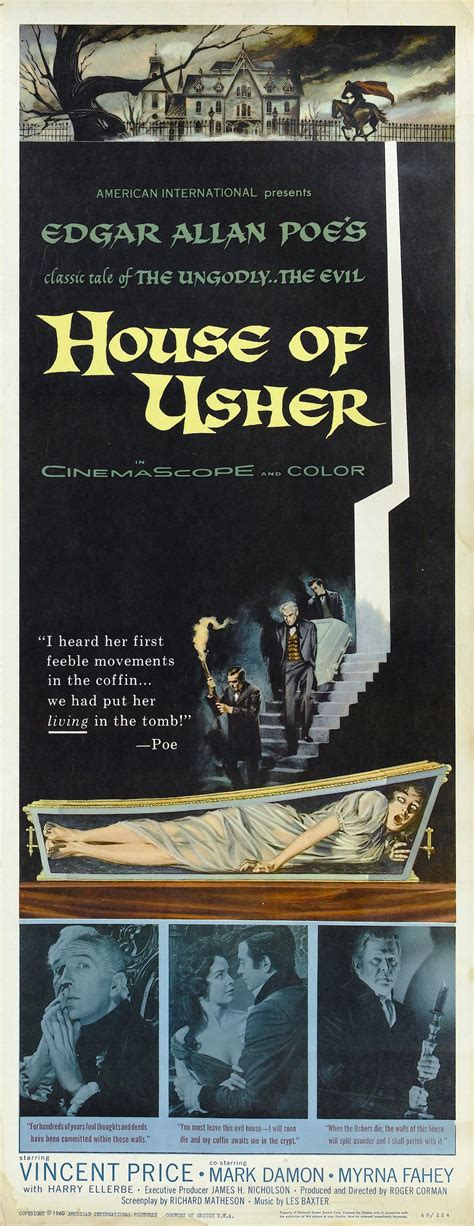 house of usher 1960 poster for house of usher 1960 usa wrong side of the art