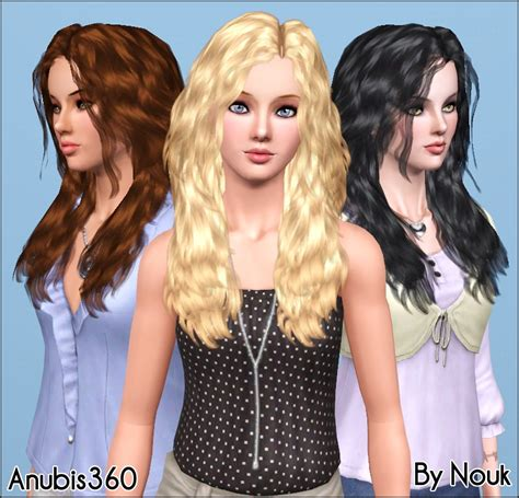 sims 3 hairstyle cheats mod the sims nouk s long wavy hair converted for teen