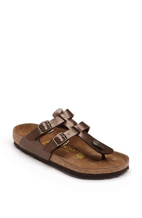 birkenstock designer sandals birkenstock sparta birkoflor sandal in brown toffee lyst