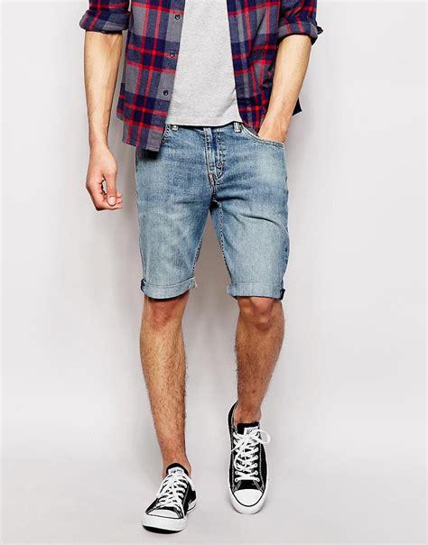 pantalones cortos levis levis pantalones cortos vaqueros recortados de corte