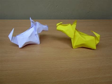 tutorial origami dog full download how to make an origami dog little terrier