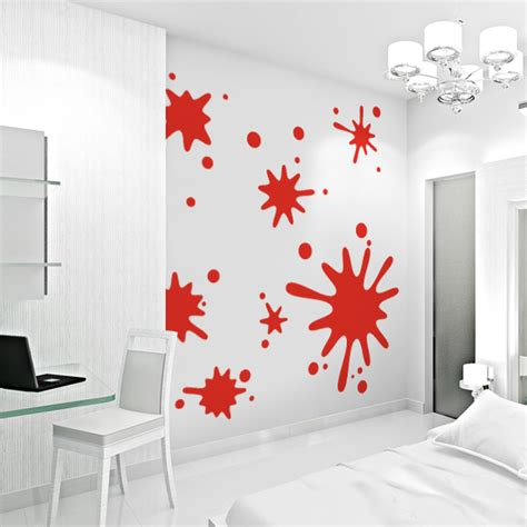 paint stickers for wall paint splatter wall decals