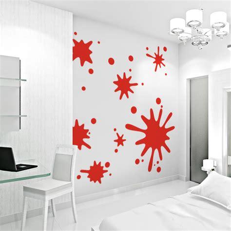 Wallpaper Rumah Cosmo 818 1 Modern for ian s room wallums paint splatter wall decals design paint splatter