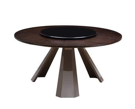 Dining Table Lazy Susan with T8958 Contemporary Wenge Dining Table W Glass Lazy Susan