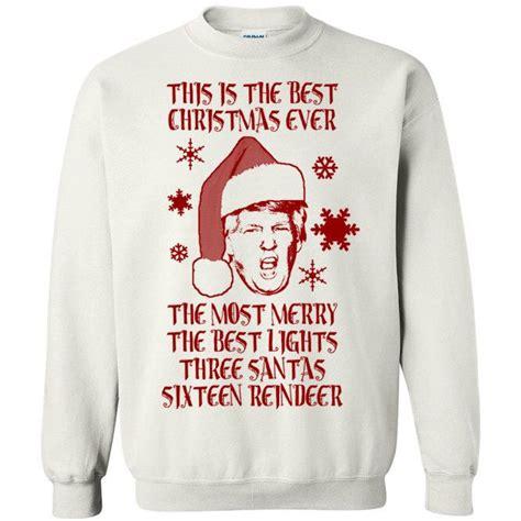 donald trump xmas sweater donald trump best christmas ever yuge huge tacky ugly